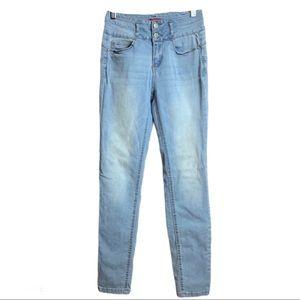 🔥Wax Jeans Butt I Love You Light Wash Sz 5